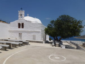The church at Agia Theodóti where the panegyris is held on September 8th
