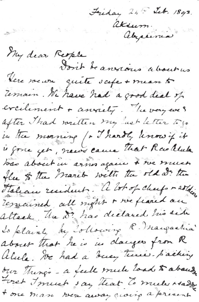 Mabel's Aksum letter