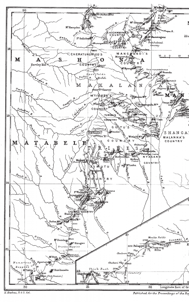 A section of Theodore's map in southern Africa (photo: The Bent Archive).