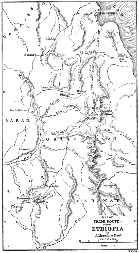 Theodore's map of Ethiopia (photo: The Bent Archive)