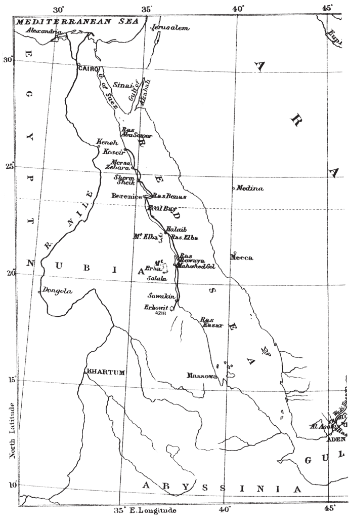 Theodore's map of the Sudanese littoral (photo: The Bent Archive)